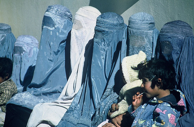 Women wearing burkas in Afghanistan