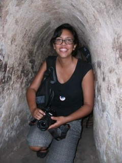 Andrea traveling in Vietnam, Southeast Asia.