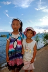 Girls from Lugu Lake, Sichuan Province, China.